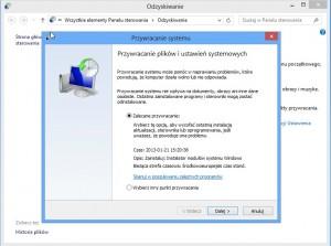 Przywracanie systemu Windows 8
