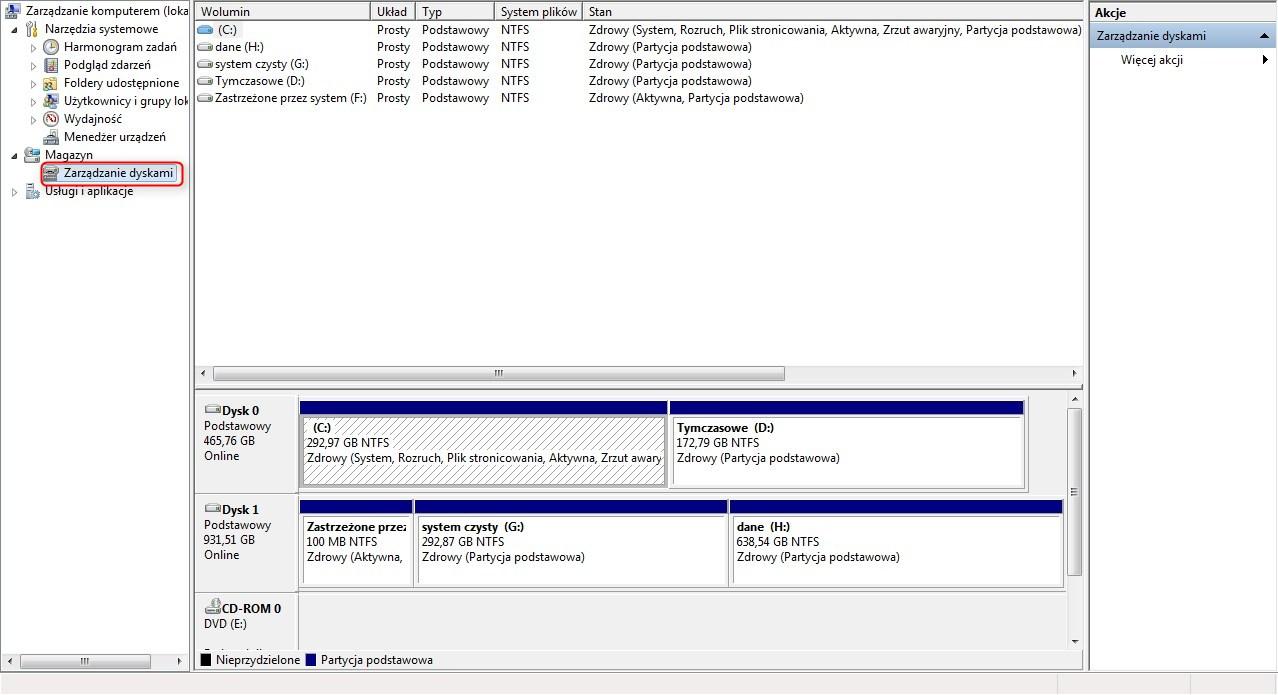 zmiana rozmiaru partycji Windows 7