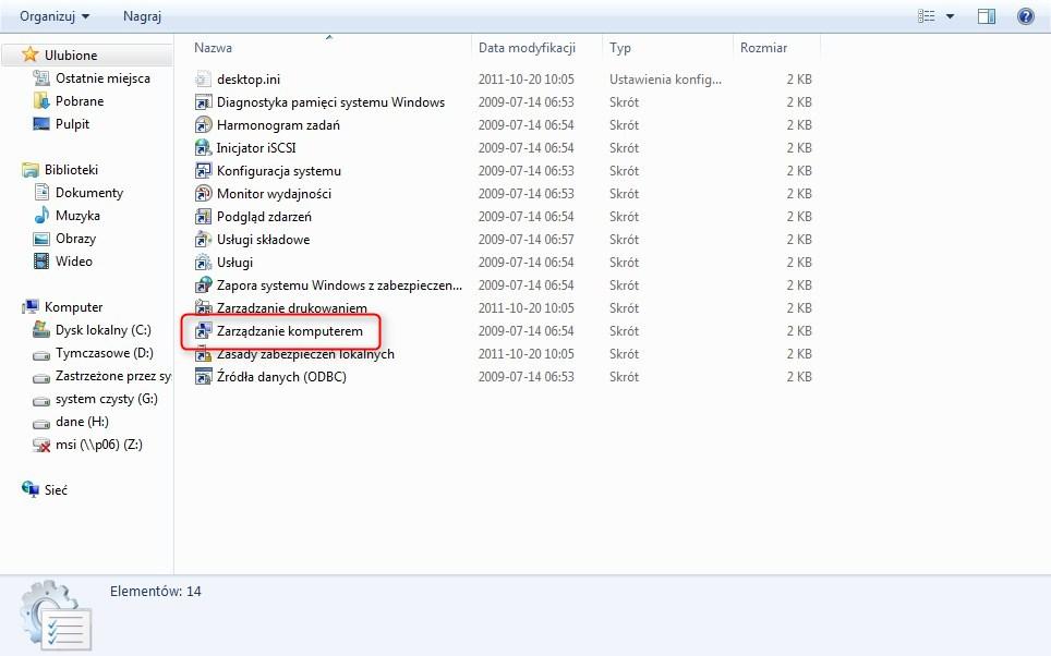 zmiana rozmiaru partycji w Windows 7