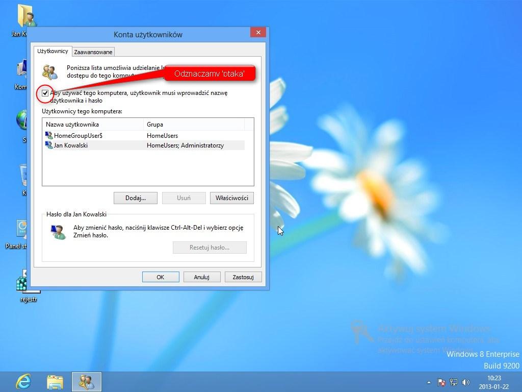 autologowanie Windows 7 Windows 8