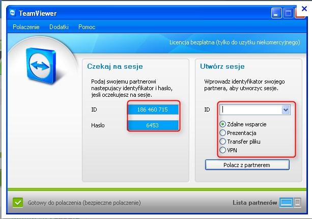 pulpit zdalny Windows 7